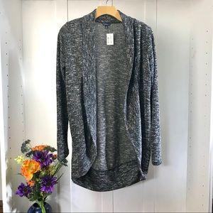 Aeropostale Gray Tweed Cardigan Sweater